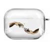Прозрачный силиконовый чехол Hustle Case Hands Time=Money Clear для AirPods Pro