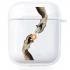 Прозрачный силиконовый чехол Hustle Case Hands BTC=Money Clear для AirPods 1 | 2