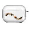 Прозрачный силиконовый чехол Hustle Case Hands BTC=Money Clear для AirPods Pro