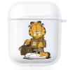 Прозрачный силиконовый чехол Hustle Case Garfield Clear для AirPods 1 | 2