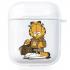 Прозрачный силиконовый чехол Hustle Case Garfield Clear для AirPods 1   2