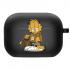 Силиконовый чехол Hustle Case Garfield Black для AirPods Pro