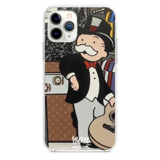 Прозрачный чехол Hustle Case Monopoly Rolex Clear для iPhone 12 Pro Max
