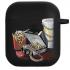 Силиконовый чехол Hustle Case Ice Big Mac Black для AirPods 1 | 2
