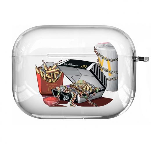 Прозрачный силиконовый чехол Hustle Case Ice Big Mac Clear для AirPods Pro