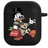 Силиконовый чехол Hustle Case Scrooge New Black для AirPods 1   2