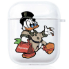 Прозрачный силиконовый чехол Hustle Case Scrooge New Clear для AirPods 1   2