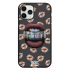Чехол Hustle Case Lips Black для iPhone 12 | 12 Pro