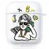 Прозрачный силиконовый чехол Hustle Case Business Angel Clear для AirPods 1 | 2