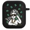 Силиконовый чехол Hustle Case Business Angel 2 Black для AirPods 1 | 2