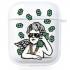 Прозрачный силиконовый чехол Hustle Case Business Angel 2 Clear для AirPods 1 | 2