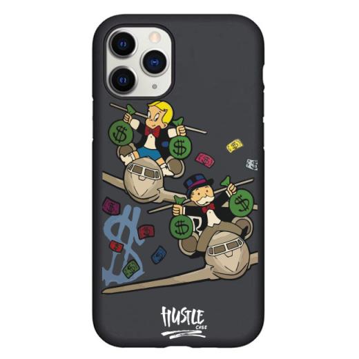 Чехол Hustle Case Monopoly Plane Black для iPhone 12 | 12 Pro