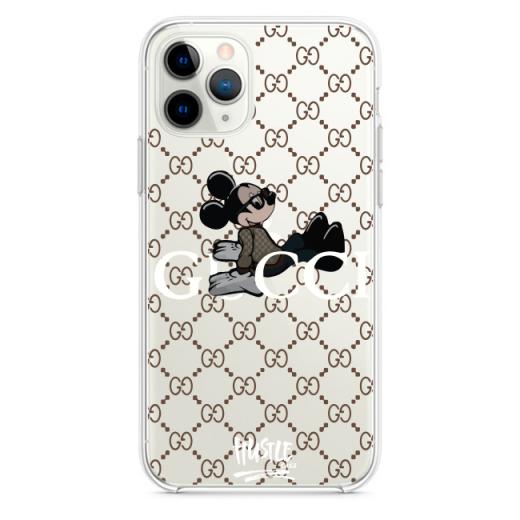 Прозрачный чехол Hustle Case Gucci Mickey Clear для iPhone 12   12 Pro