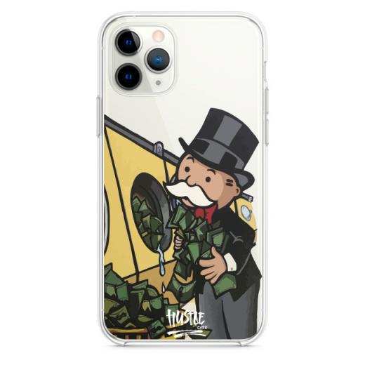 Прозрачный чехол Hustle Case Monopoly Wash Clear для iPhone 12   12 Pro