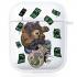 Прозрачный силиконовый чехол Hustle Case Bear Clear для AirPods 1   2