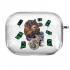 Прозрачный силиконовый чехол Hustle Case Bear Clear для AirPods Pro