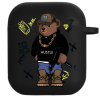 Силиконовый чехол Hustle Case Bear Hustle Black для AirPods 1   2