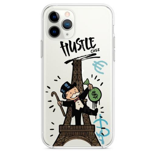 Прозрачный чехол Hustle Case Monopoly Paris Clear для iPhone 12   12 Pro