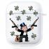 Прозрачный силиконовый чехол Hustle Case Monopoly Kalash Clear для AirPods 1   2