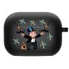 Силиконовый чехол Hustle Case Monopoly Kalash Black для AirPods Pro