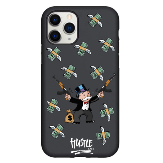 Чехол Hustle Case Monopoly Kalash Black для iPhone 12   12 Pro