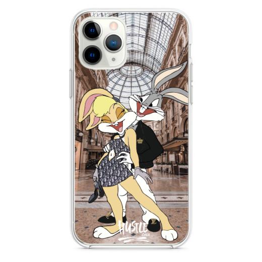 Прозрачный чехол Hustle Case Bucks Bunny Love 1 Clear для iPhone 12 | 12 Pro