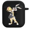 Силиконовый чехол Hustle Case Bunny Love Black для AirPods 1   2