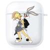 Прозрачный силиконовый чехол Hustle Case Bunny Love Clear для AirPods 1 | 2