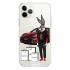 Прозрачный чехол Hustle Case Bucks Bunny Porsche Clear для iPhone 12 Pro Max