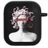 Силиконовый чехол Hustle Case Gorgona Black для AirPods 1   2