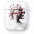 Прозрачный силиконовый чехол Hustle Case Gorgona Clear для AirPods 1 | 2