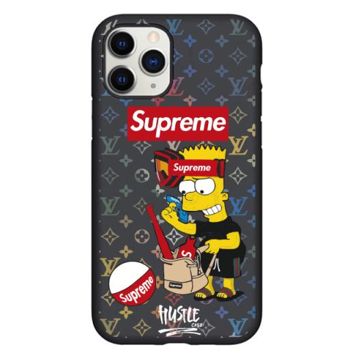 Чехол Hustle Case Simpsons Bart Supreme Black для iPhone 12   12 Pro
