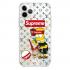 Прозрачный чехол Hustle Case Simpsons Bart Supreme Clear для iPhone 12 | 12 Pro