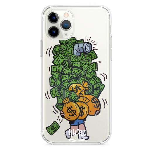 Прозрачный чехол Hustle Case Monopoly Richie Rich Glasses Clear для iPhone 12 | 12 Pro