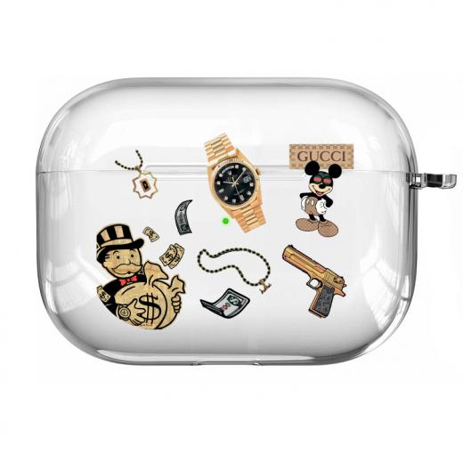Прозрачный силиконовый чехол Hustle Case Custom Clear для AirPods Pro