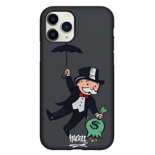 Чехол Hustle Case Monopoly Umbrella Black для iPhone 12   12 Pro
