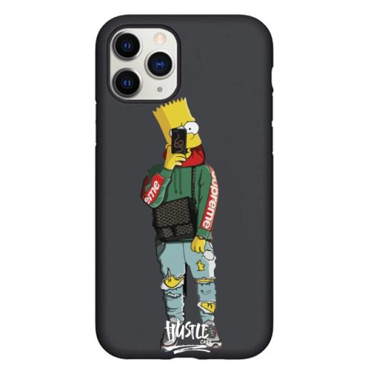 Чехол Hustle Case Simpsons Bart Selfie Black для iPhone 12 Pro Max