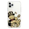 Прозрачный чехол Hustle Case Monopoly Gold Clear для iPhone 12 Pro Max