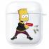 Прозрачный силиконовый чехол Hustle Case Simpsons Bart Gun Clear для AirPods 1 | 2
