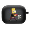 Силиконовый чехол Hustle Case Simpsons Bart Gun Black для AirPods Pro