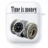 Прозрачный силиконовый чехол Hustle Case Time is Money Clear для AirPods 1 | 2