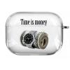 Прозрачный силиконовый чехол Hustle Case Time is Money Clear для AirPods Pro