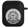 Силиконовый чехол Hustle Case Mason Eye Black для AirPods 1 | 2