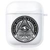 Прозрачный силиконовый чехол Hustle Case Mason Eye Clear для AirPods 1   2