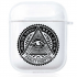 Прозрачный силиконовый чехол Hustle Case Mason Eye Clear для AirPods 1 | 2