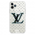 Прозрачный чехол Hustle Case LV blue Clear для iPhone 12 Pro Max