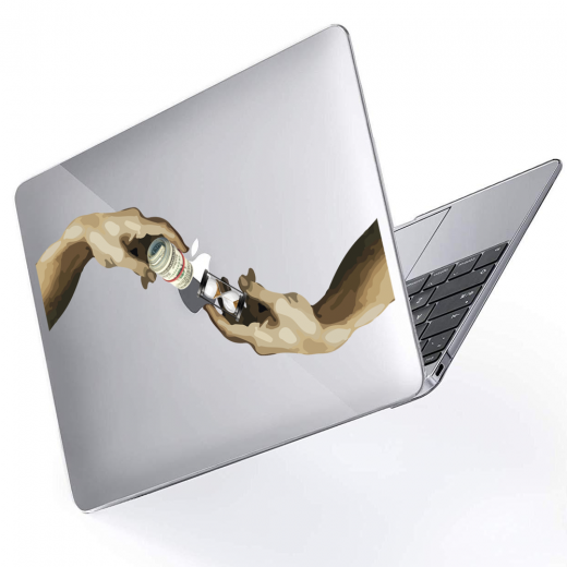 """Чехол-накладка Hustle Case Hands Time=Money Clear для MacBook Air 13"""" (M1   2020   2019   2018)"""