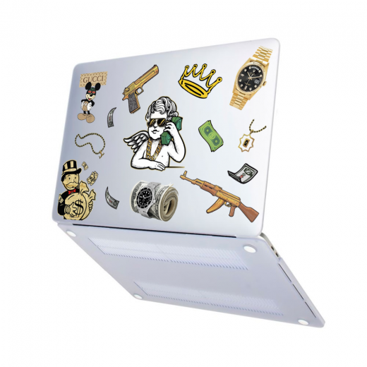 "Чехол-накладка Hustle Case Custom Matte Clear для MacBook Air 13"" (M1   2020   2019   2018)"