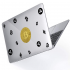 """Чехол-накладка Hustle Case Bitcoin Clear для MacBook Air 13"""" (M1   2020   2019   2018)"""