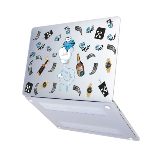 "Чехол-накладка Hustle Case Diamond Matte Clear для MacBook Air 13"" (M1   2020   2019   2018)"